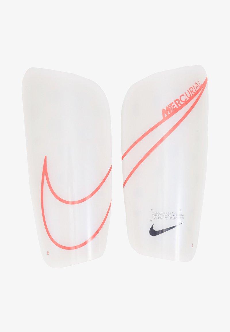 Nike Performance - MERCURIAL LITE - Schienbeinschoner - white/black/laser crimson