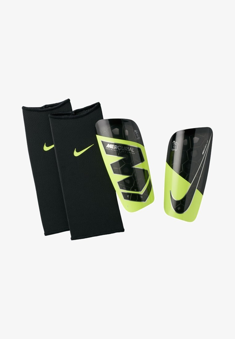 Nike Performance - MERCURIAL LITE - Shin pads - neon yellow/black