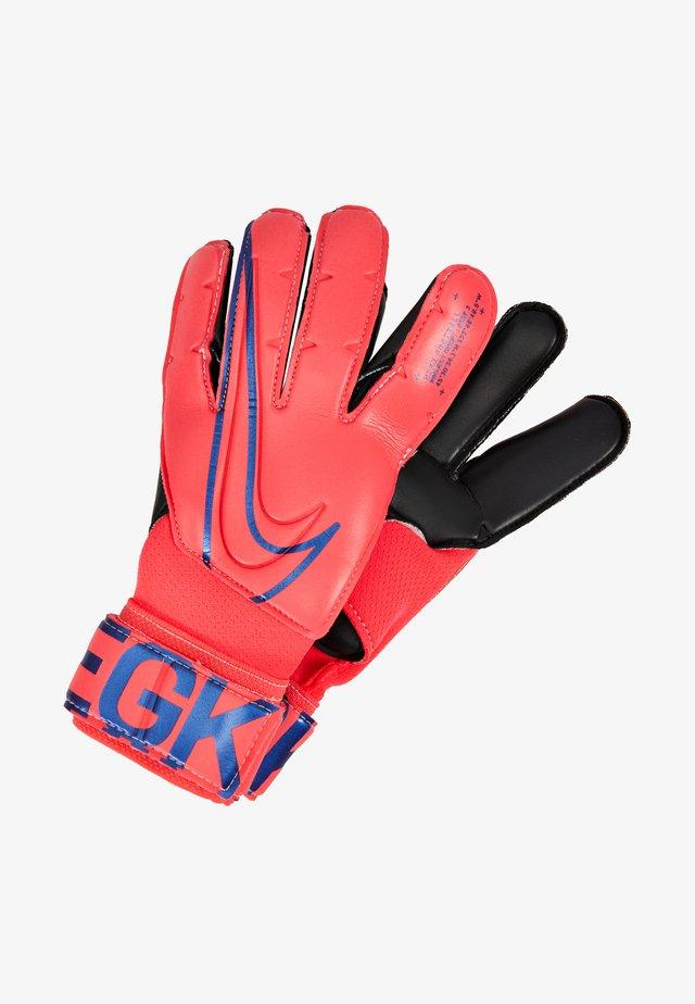 Goalkeeping gloves - laser crimson/black