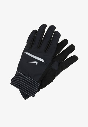 MENS SHIELD RUNNING GLOVES - Guantes - black/wolf grey/silver