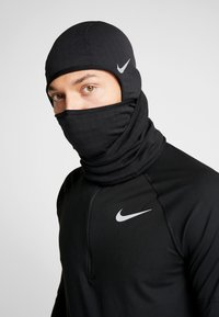 Nike Performance - RUN THERMA SPHERE HOOD - Gorro - black/silver - 0