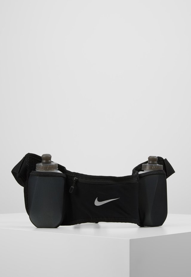DOUBLE POCKET FLASK BELT  - Sac banane - black/black/silver