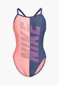 Nike Performance - RACERBACK ONE PIECE - Plavky - rose/grey - 4