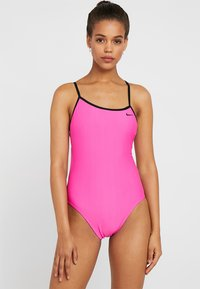 Nike Performance - CROSSBACK CUT OUT ONE PIECE - Swimsuit - rose - 0