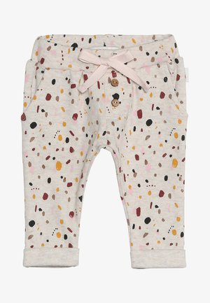 PANTS REGULAR CAIRO BABY - Tygbyxor - whisper white melange