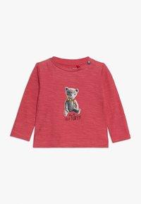 Noppies - TEE REGULAR CHEVIOT BABY - Long sleeved top - garnet rose - 0