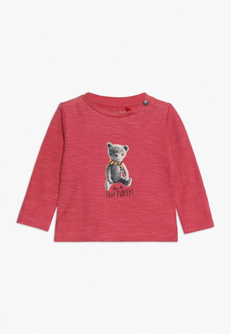 Noppies - TEE REGULAR CHEVIOT BABY - Langarmshirt - garnet rose
