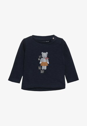 TEE REGULAR CHEVIOT BABY - Long sleeved top - dark sapphire