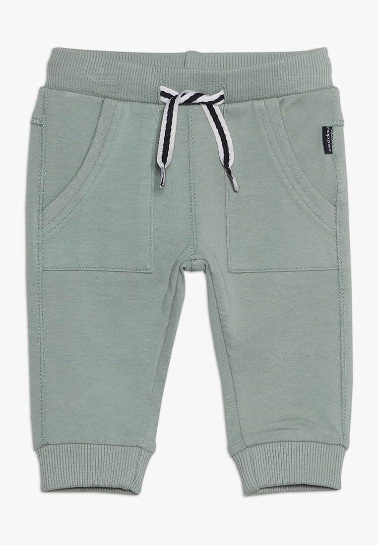 Noppies - PANTS SLIM AMES BABY - Trousers - green milieu