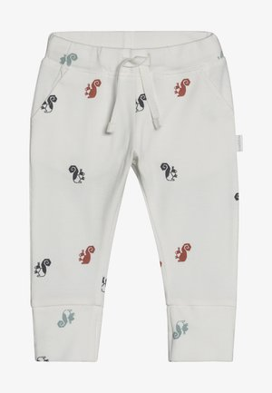 SLIM FIT PANTS - Trousers - whisper white