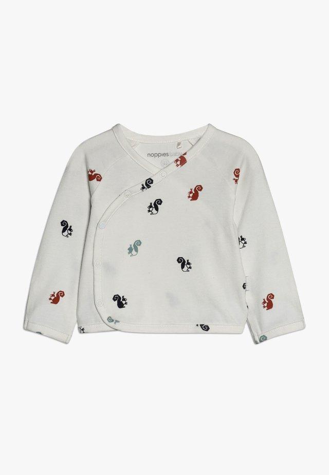 OVERLAP KRIMPTON - Långärmad tröja - whisper white
