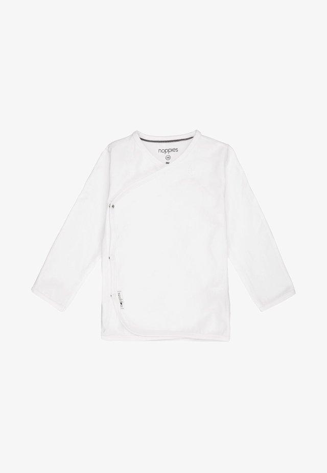 LITTLE - Top sdlouhým rukávem - white
