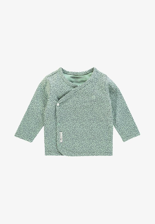 HANNAH - Top sdlouhým rukávem - grey/mint
