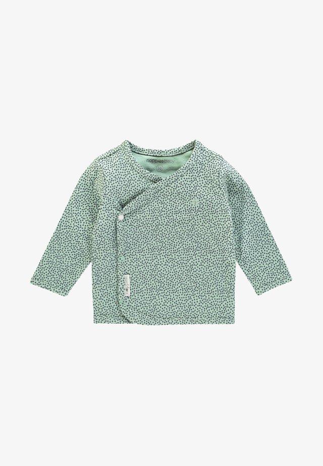 HANNAH - Maglietta a manica lunga - grey/mint