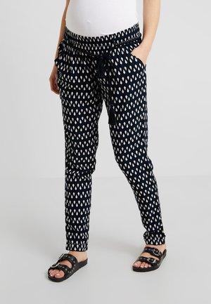 PANTS  REGULAR PALMIRA - Tygbyxor - black/white