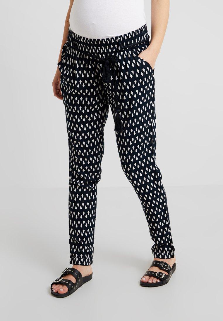 Noppies - PANTS  REGULAR PALMIRA - Stoffhose - black/white