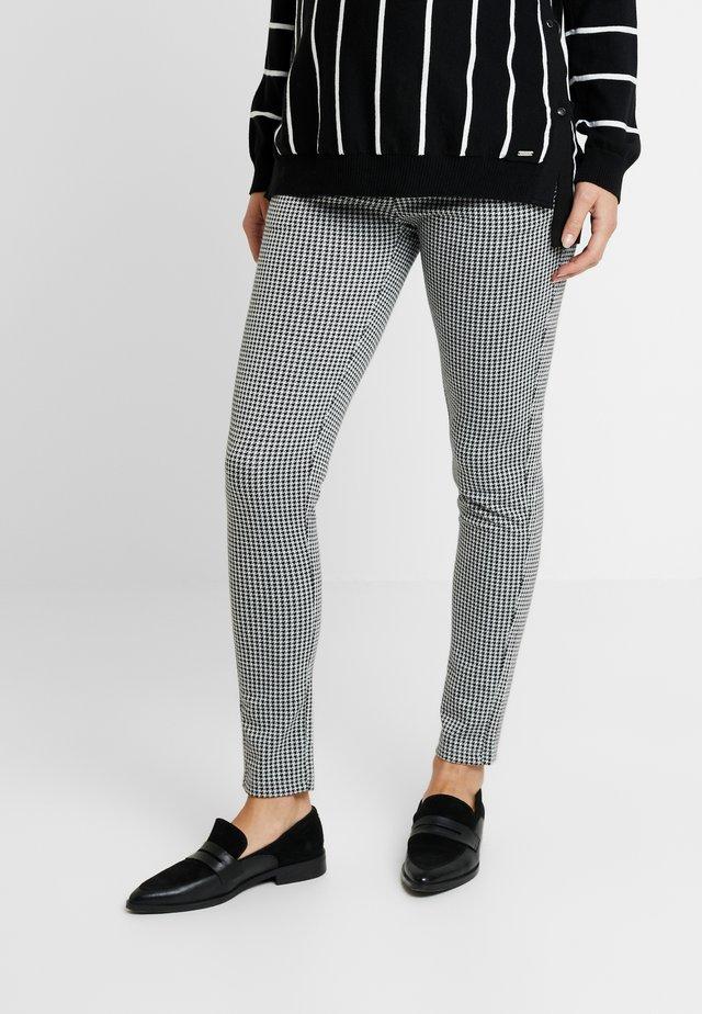 PANTS JAQUARD TAMAR - Trousers - black