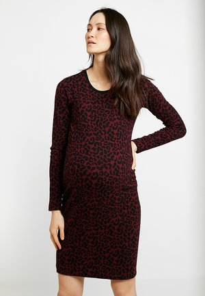 DRESS SIERRA - Pouzdrové šaty - tawny port