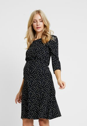 DRESS NURS TATUM - Žerzejové šaty - black