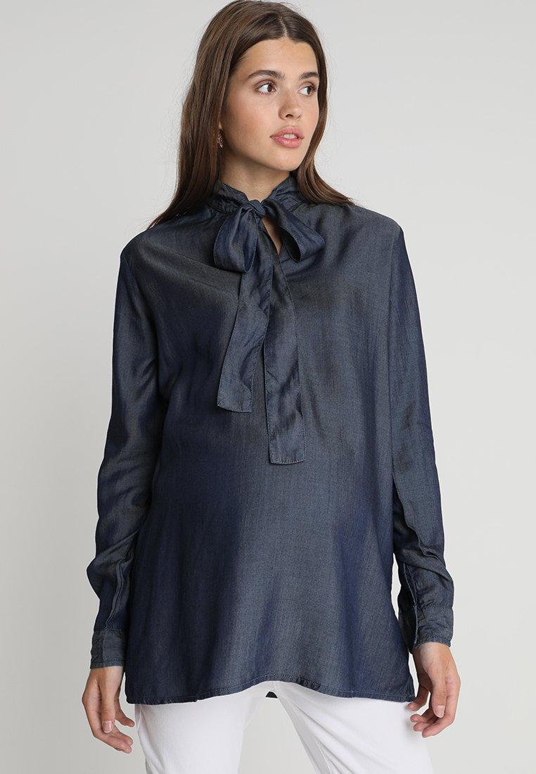 Noppies - BLOUSE BOW - Bluse - misty blue