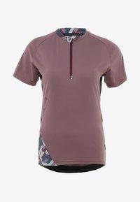 ION - TEE HALF ZIP TRAZE  - T-Shirt print - antic lila - 8