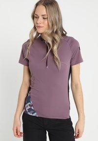 ION - TEE HALF ZIP TRAZE  - T-Shirt print - antic lila - 0