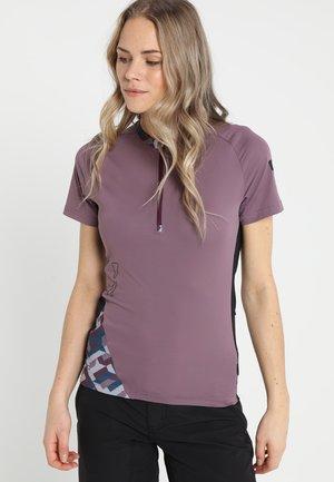 TEE HALF ZIP TRAZE  - Camiseta estampada - antic lila