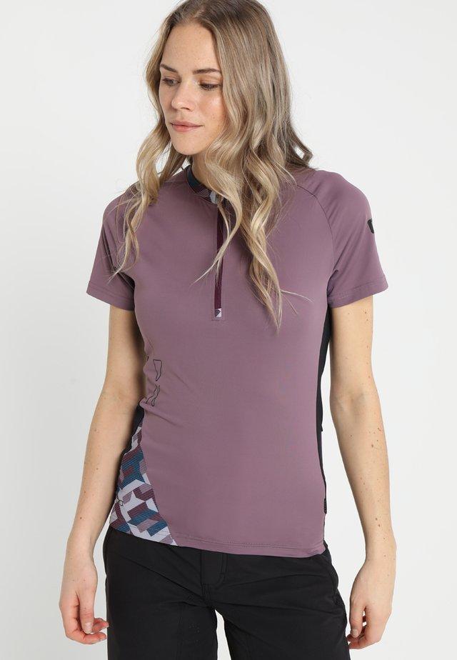 TEE HALF ZIP TRAZE  - T-shirt print - antic lila
