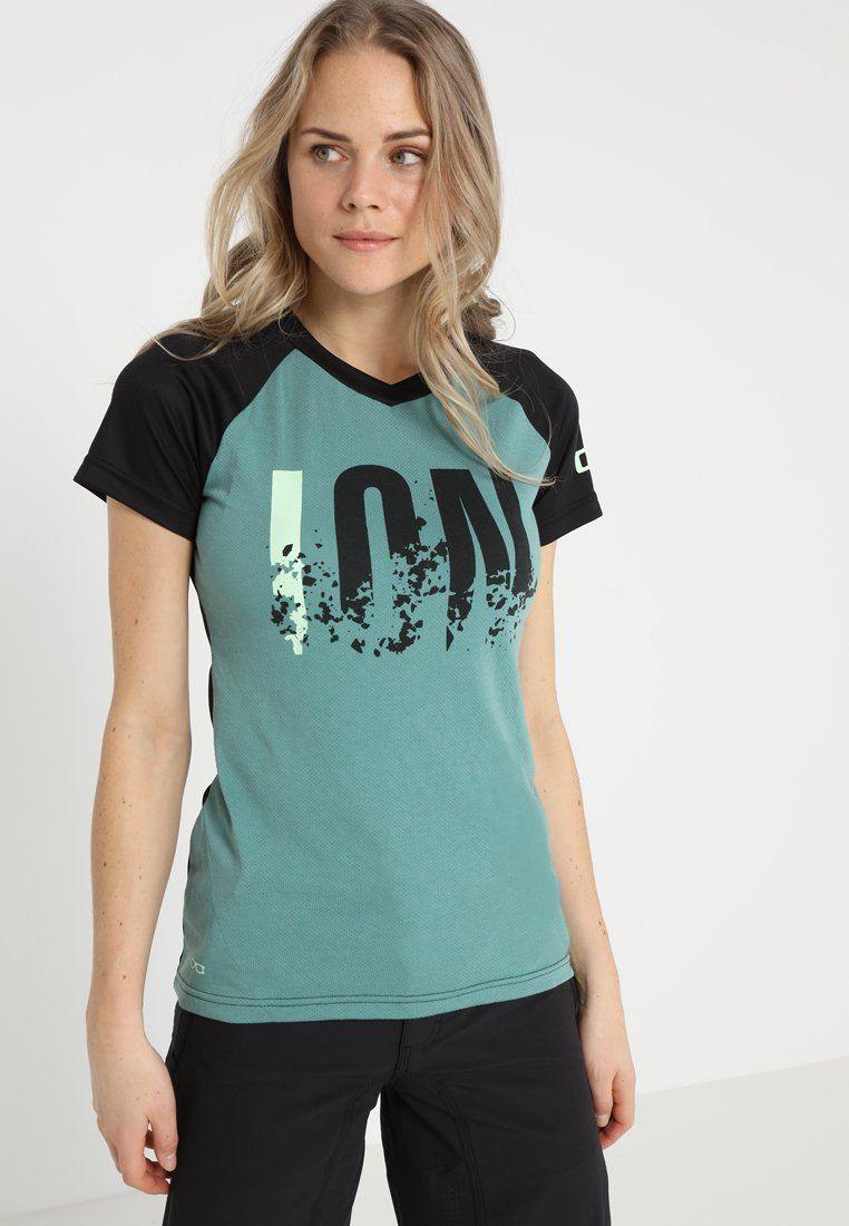 ION - TEE LETTERS SCRUB  - T-Shirt print - sea green