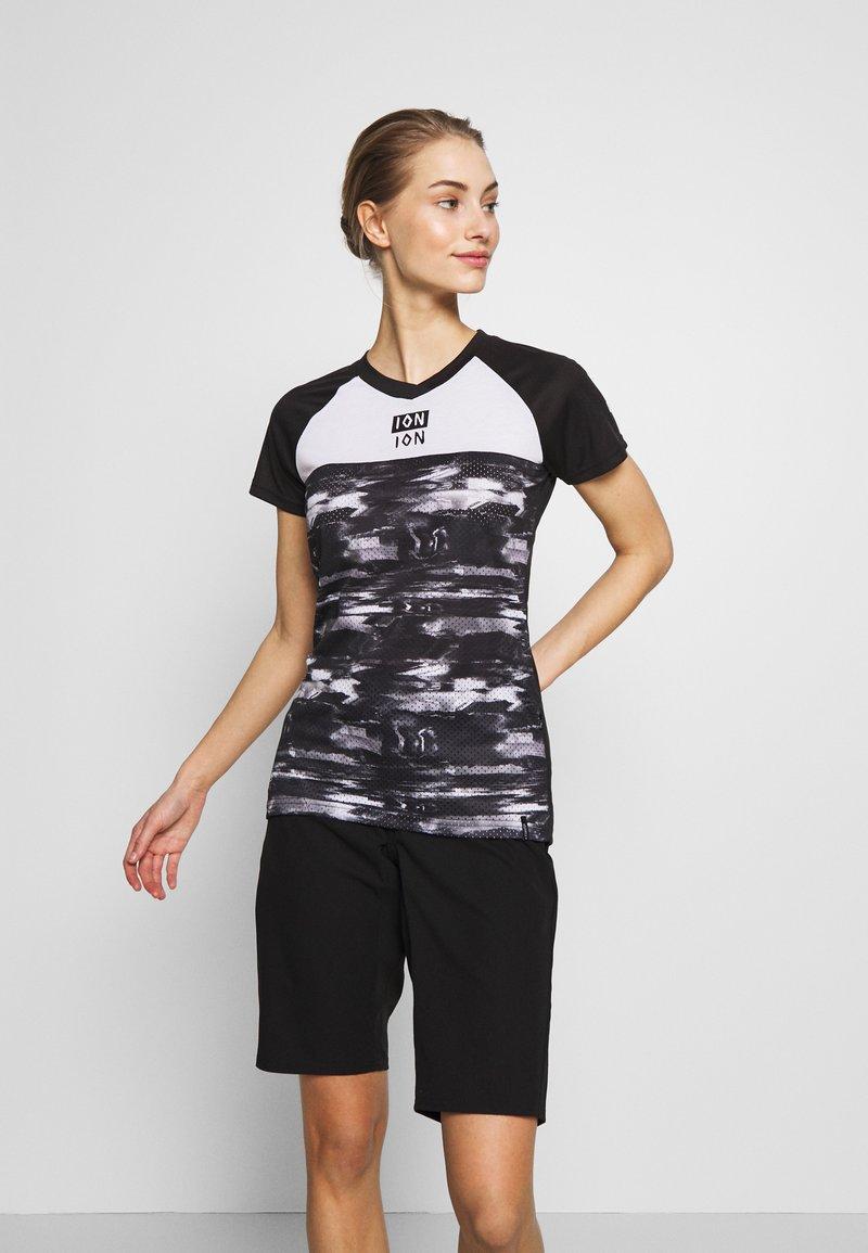 ION - TEE SCRUB AMP DISTORTION  - T-shirt z nadrukiem - black