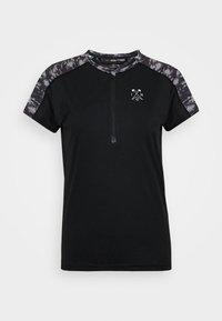 ION - TEE HALF ZIP TRAZE - T-shirt z nadrukiem - black - 4