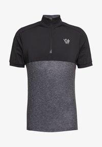ION - TEE HALF ZIP PAZE - Sports shirt - black - 6