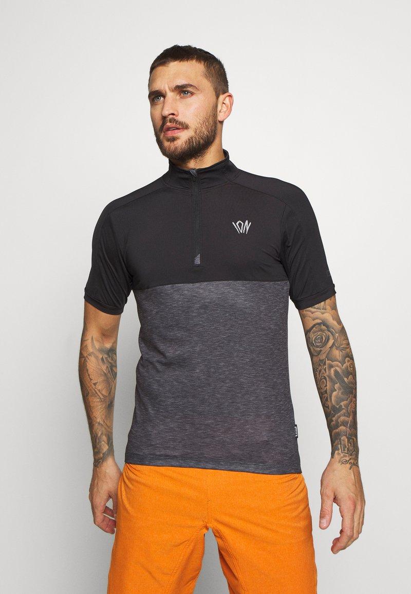 ION - TEE HALF ZIP PAZE - Sports shirt - black