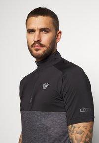 ION - TEE HALF ZIP PAZE - Sports shirt - black - 3