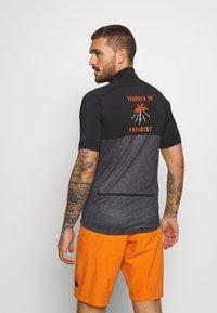 ION - TEE HALF ZIP PAZE - Sports shirt - black - 2