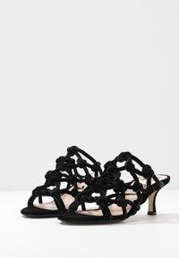N°21 - Pantofle na podpatku - black - 4