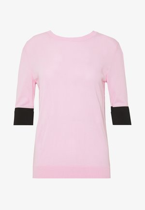 ROUND NECK CUFF TEE - T-shirt basic - pale pink