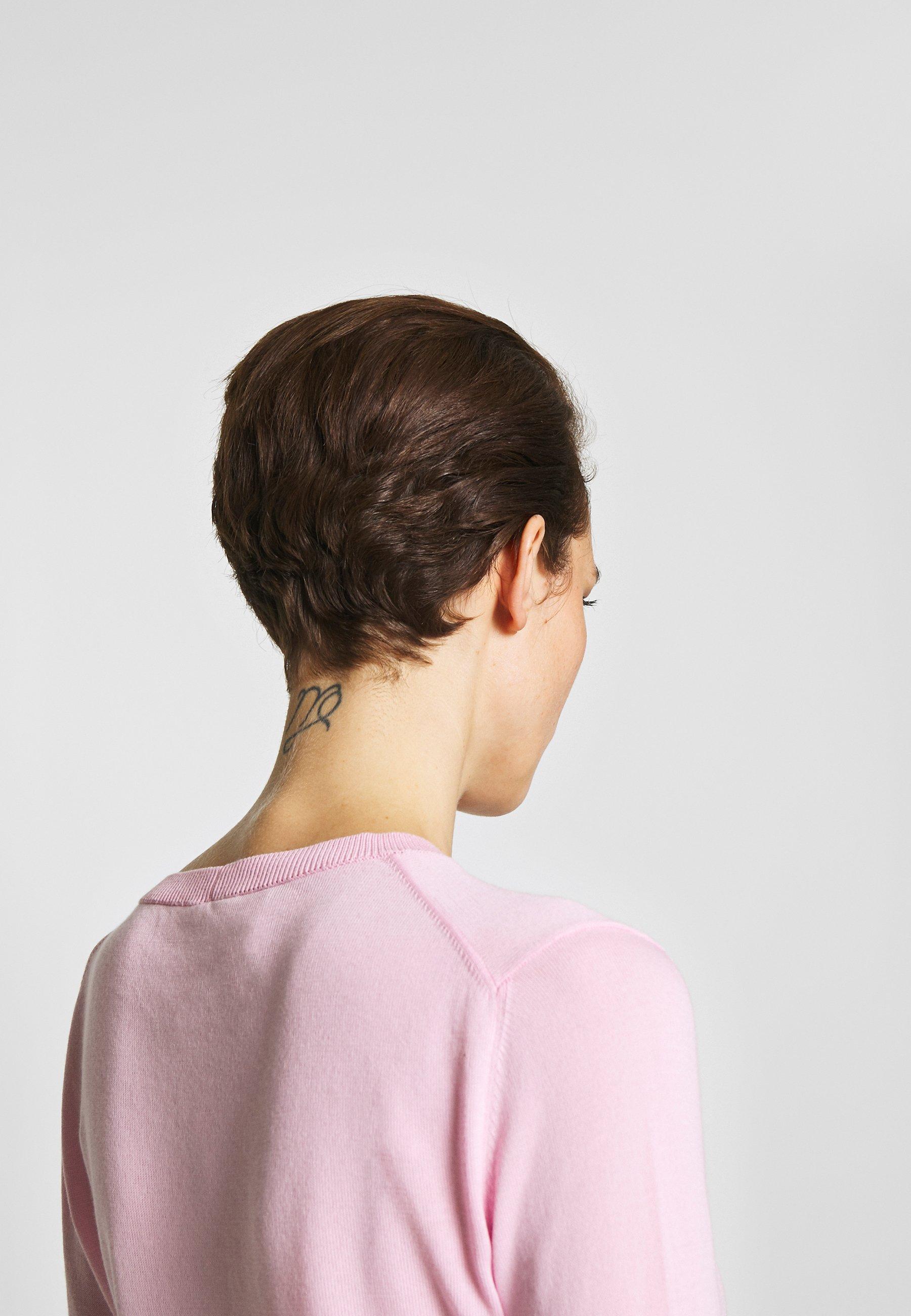 N°21 ROUND NECK CUFF TEE - T-shirts - pale pink