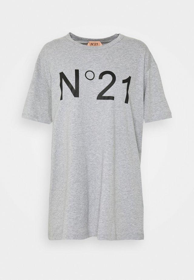 T-shirts med print - melange grey