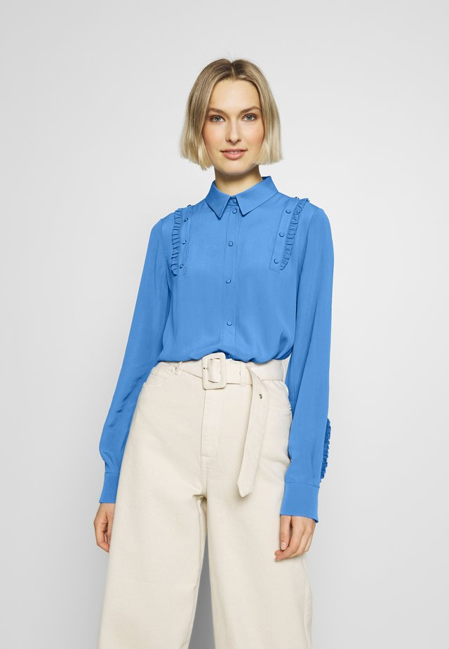Button-down blouse - cielo