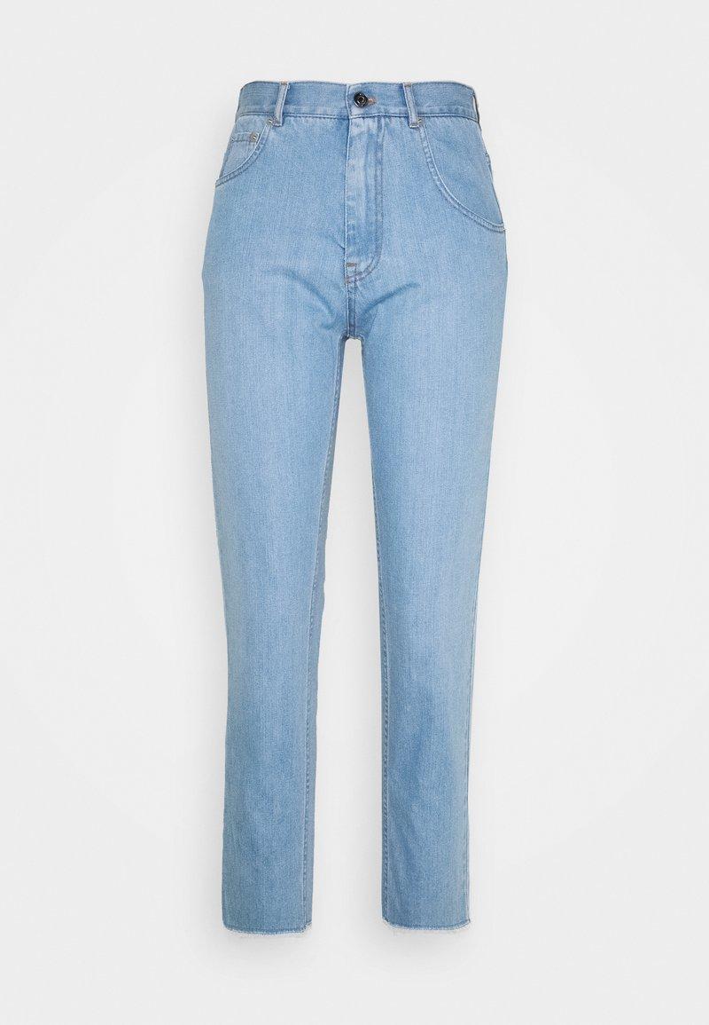 N°21 - Jeans baggy - degradable blue