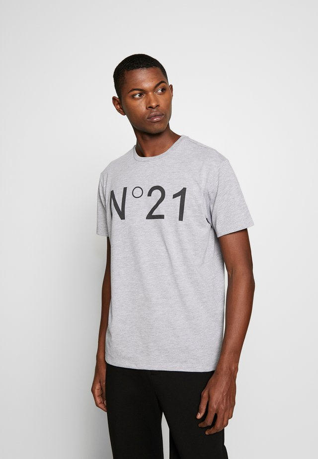 T-shirt z nadrukiem - melange grey