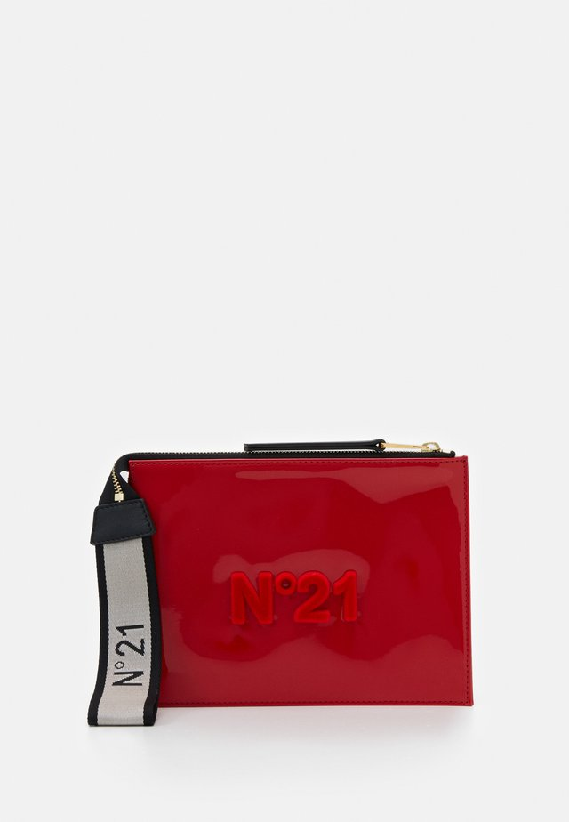 ZIPPED POUCH - Clutch - red