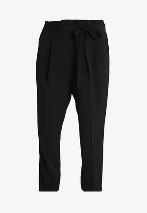 MILLER PAPER BAG TROUSER - Stoffhose - black