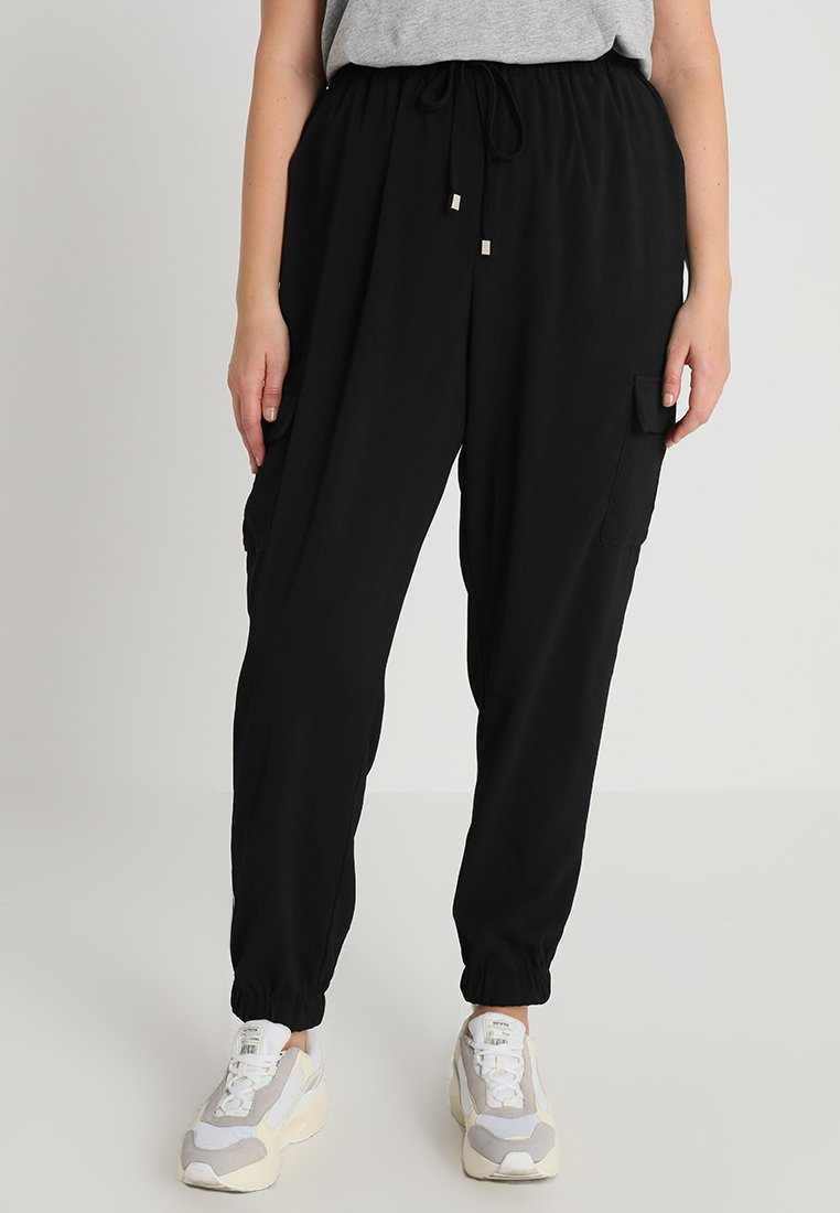 New Look Curves - PRESHOWCURVES UTILITY TROUSER - Stoffhose - black
