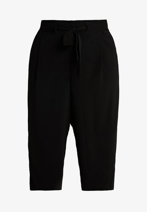 EMERALD TIE WAIST CROP - Trousers - black