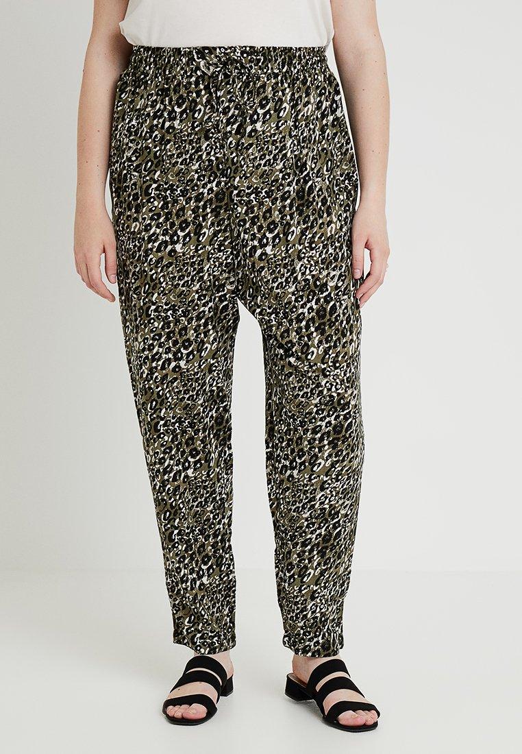 New Look Curves - AMANDA ANIMAL - Bukser - khaki