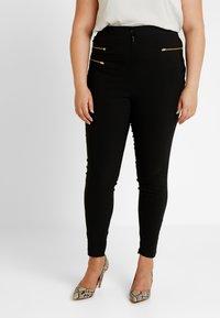 New Look Curves - THREE ZIP BENGALINE TROUSER - Pantalones - black - 0