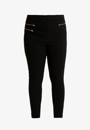 THREE ZIP BENGALINE TROUSER - Broek - black