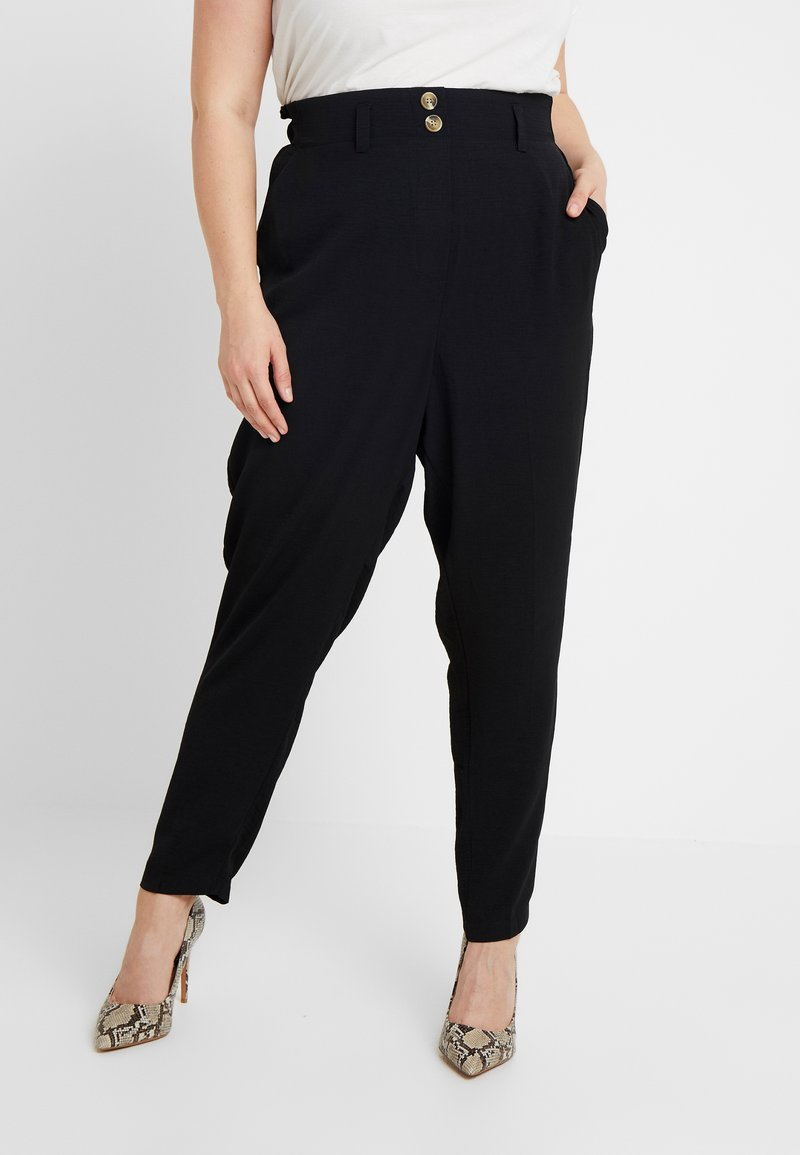 New Look Curves - X SOFT UTILITY TROUSER - Stoffhose - black